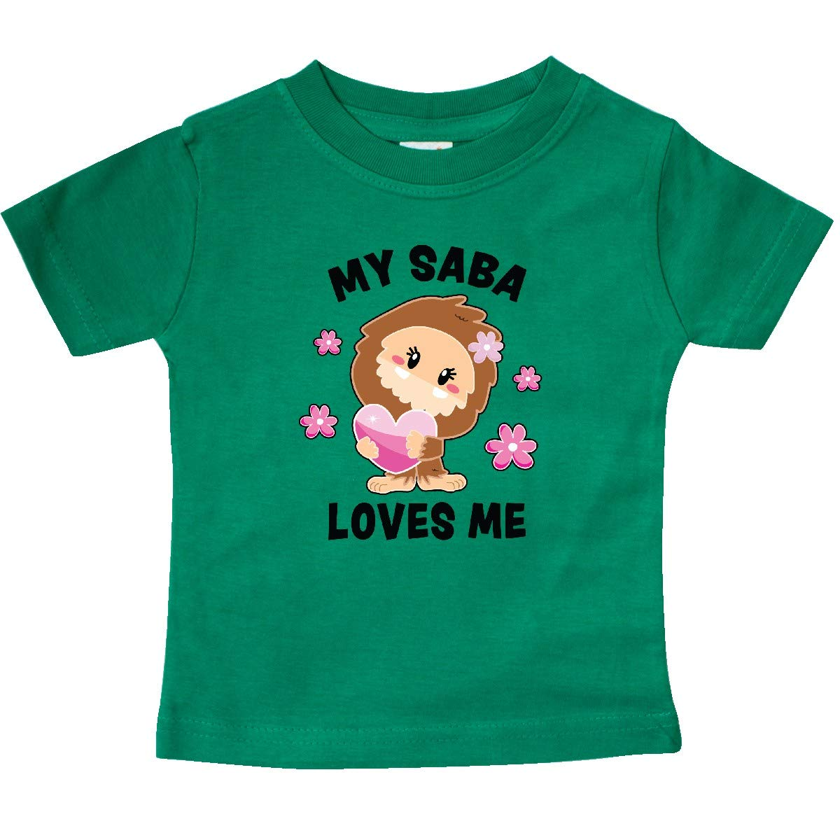 inktastic My Saba Loves Me with Bigfoot Baby T-Shirt