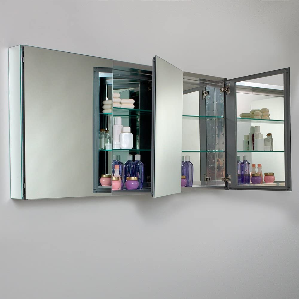 Wide Bathroom Medicine Cabinet with Mirrors