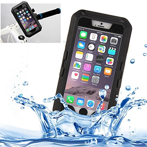 Phone Taschen & Schalen Für IPhone 6 Plus / 6s Plus, IPX8 wasserdicht Touch Sensible Screen Case mit Fahrradhalter & Lanyard ( Color : Black )