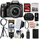 Pentax K-70 All Weather Wi-Fi Digital SLR Camera & 18-55mm AL WR Lens 64GB Card + Case + Flash + Soft Box + Battery + Tripod + Filter + Kit