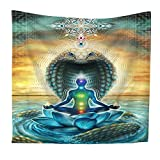 Yoga Tapestry Ethnic Costume Insignia Zen Meditation Hippie Style Home Decor Collection Hanging wall decor, Beach Throw, Table Runner/Cloth(GT02)