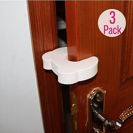 EUDEMON seguridad bebé 3 Pack suave EVA espuma puerta tope puerta cuñas: Amazon.es: Oficina y papelería