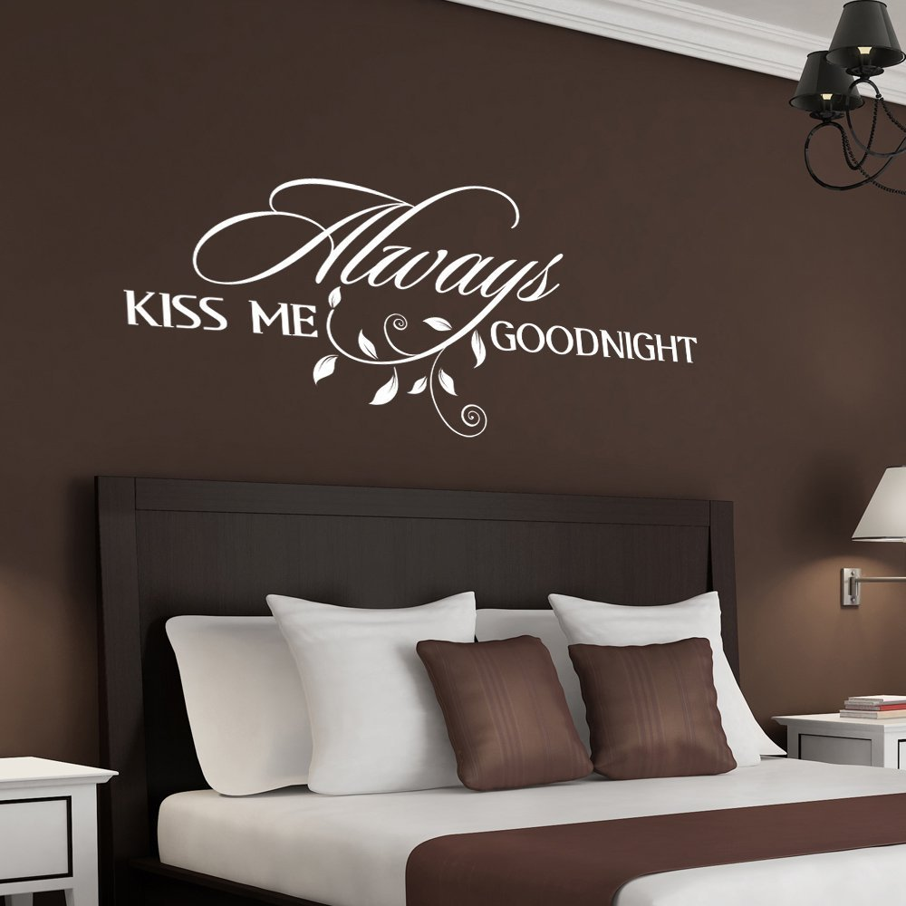 romantic bedroom wall decals. Amazon.com: Always Kiss Me Goodnight Wall Quote Decal Romantic Bedroom Decal: Home \u0026 Kitchen Decals I