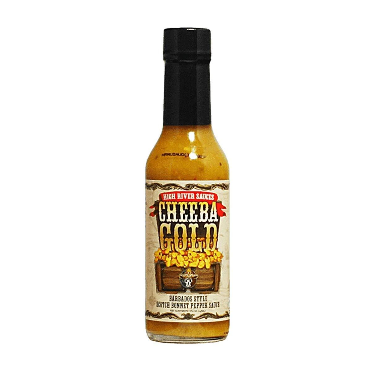 High River Sauces Cheeba Gold Barbados Style Scotch Bonnet Pepper Sauce (Single)
