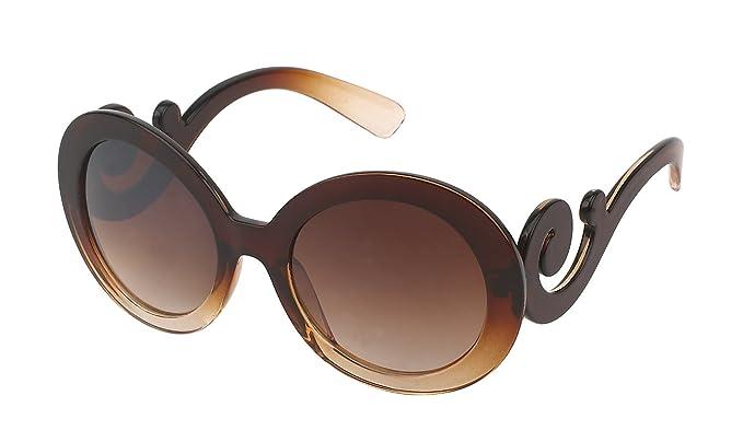 Sonnenbrille Glamour eckig spiralig getönt 400UV Vintage Designer schwarz V6Zgo
