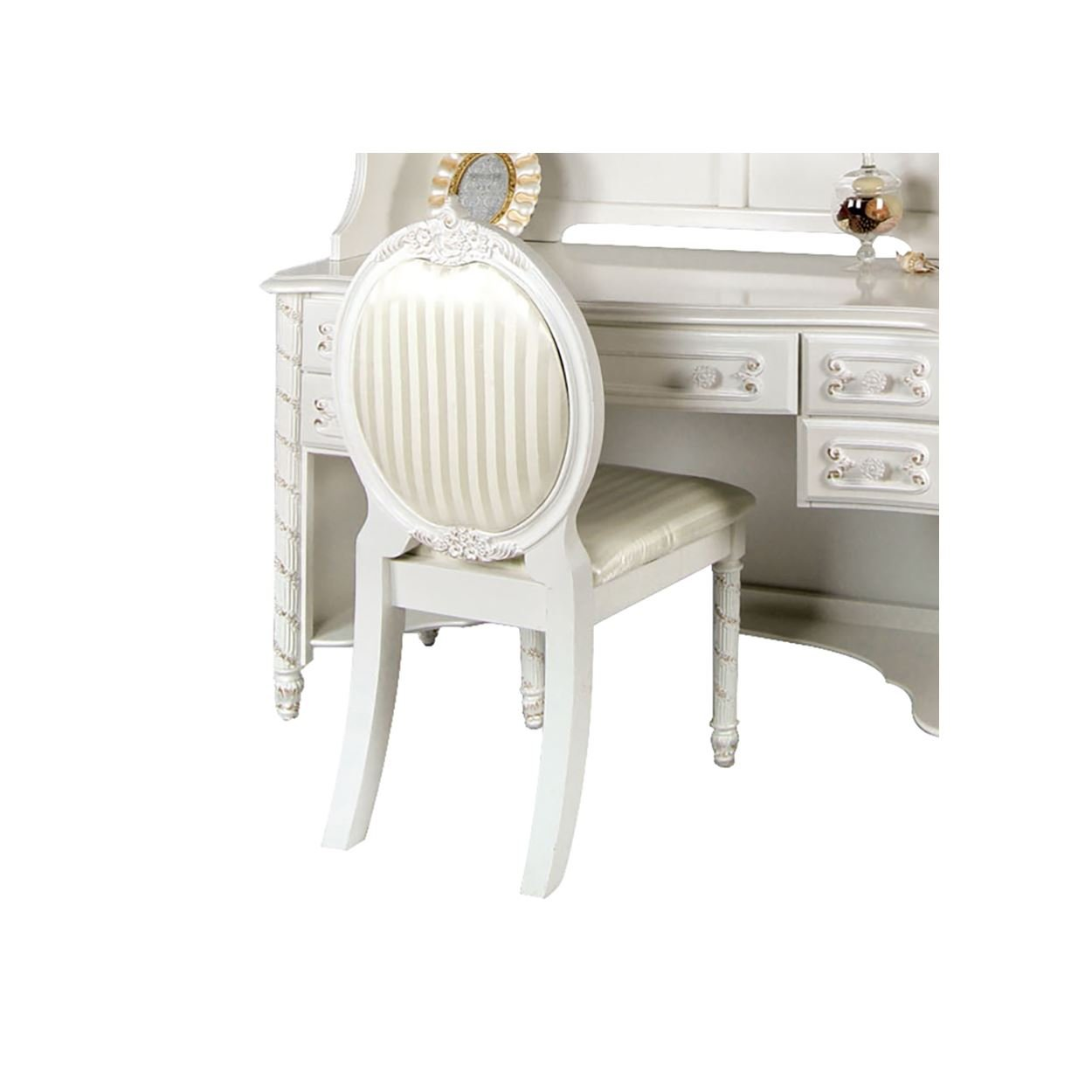 Addison Girls Desk Chair in Pearl White