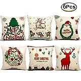 JBNEG 6 Packs Christmas Pillows Covers 18 X 18 Christmas Décor...