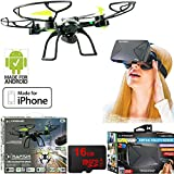 Xtreme Ready-To-Fly 2.4Ghz 6 Axis Gyro Aerial Quadcopter Drone with Camera (05461) with Bundle Includes VR Vue Virtual Reality Viewer for Smartphones + 16GB MicroSD Memory Card