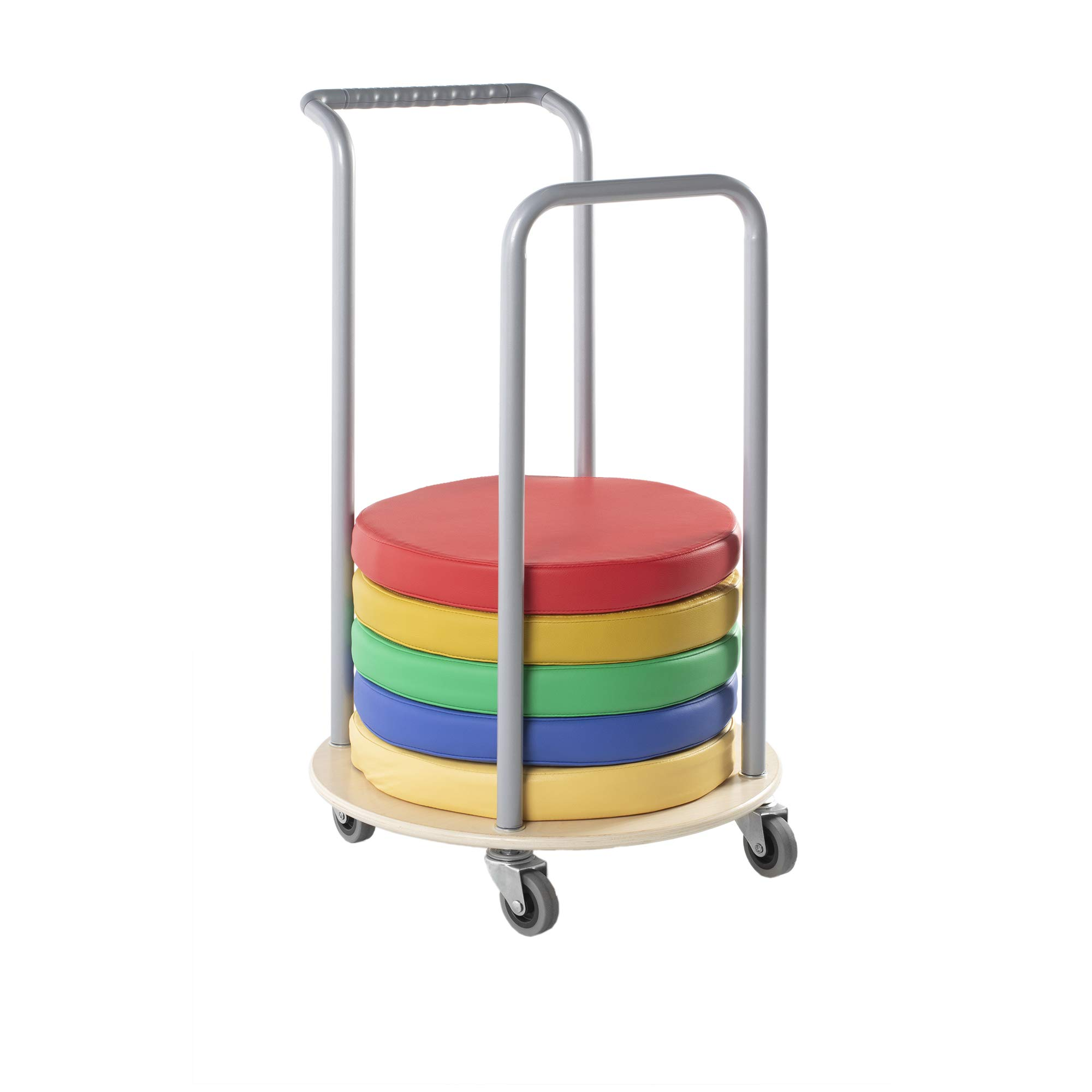 Guidecraft Storytime Cushion Storage: 12 Cushions Storage Rolling Cart for Kids Preschool, Toddlers Playschool Furniture by Guidecraft