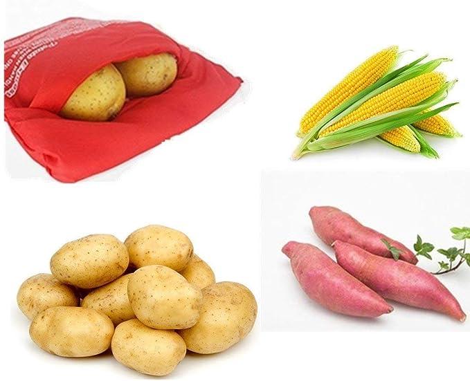 Compra Aione Rojo 6 Pack/Set Bolsa de cocción con microondas ...