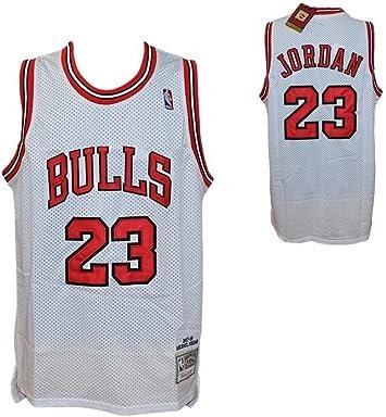 longitud Barrio astronomía  Réplica Camiseta Blanca NBA Retro Vintage - Michael Jordan - Chicago Bulls  - Talla L: Amazon.es: Coche y moto