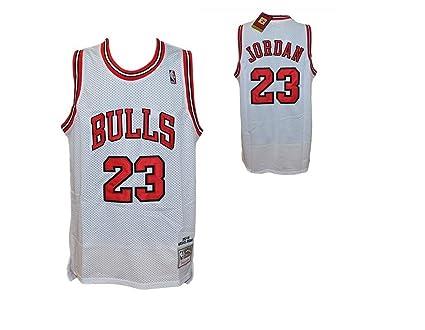 camiseta de tirantes blanca NBA Retro Vintage – Michael Jordan – Chicago Bulls – Talla L