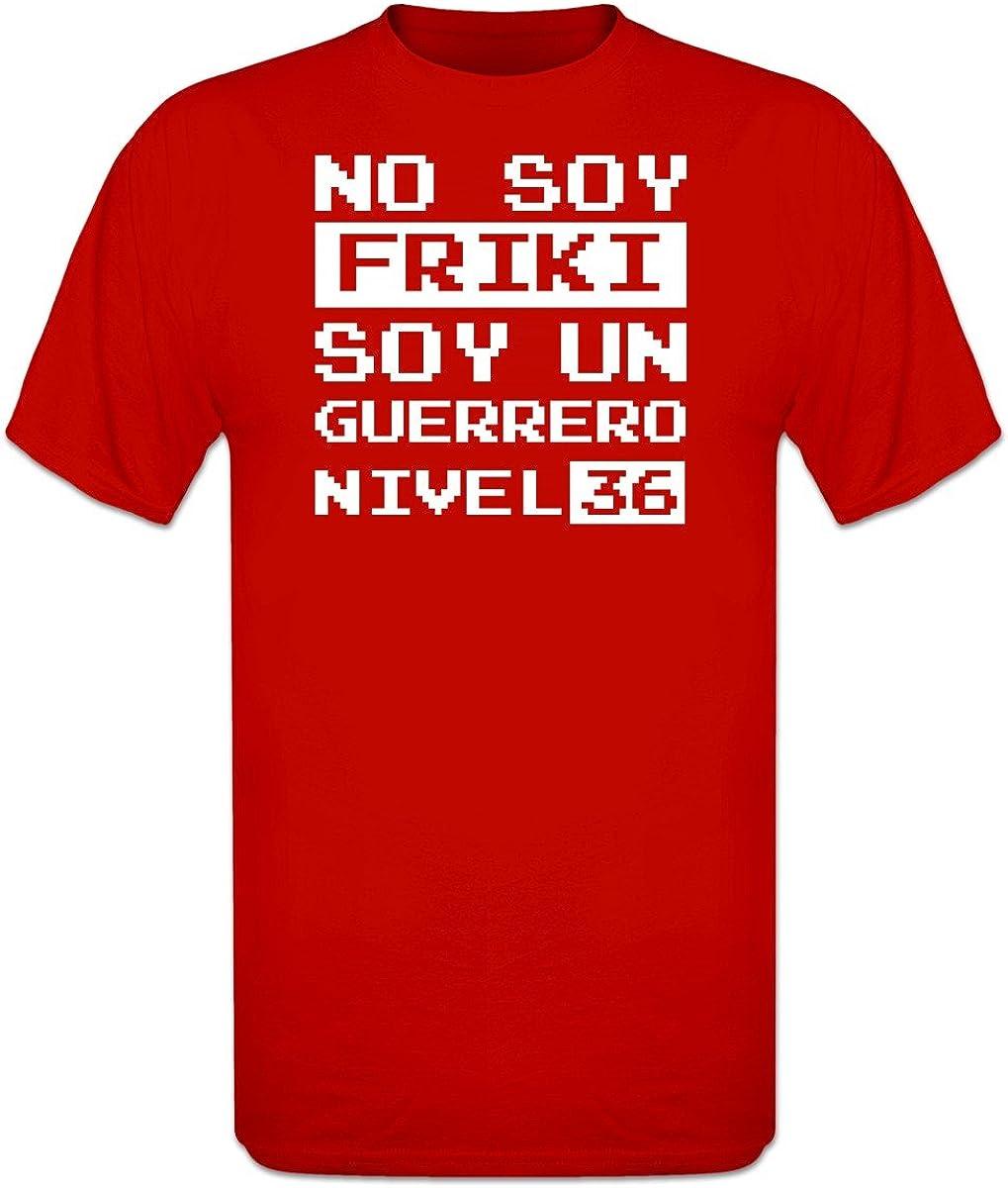 Shirtcity Camiseta No Soy Friki Soy un Guerrero Nivel 36 by: Amazon.es: Ropa y accesorios