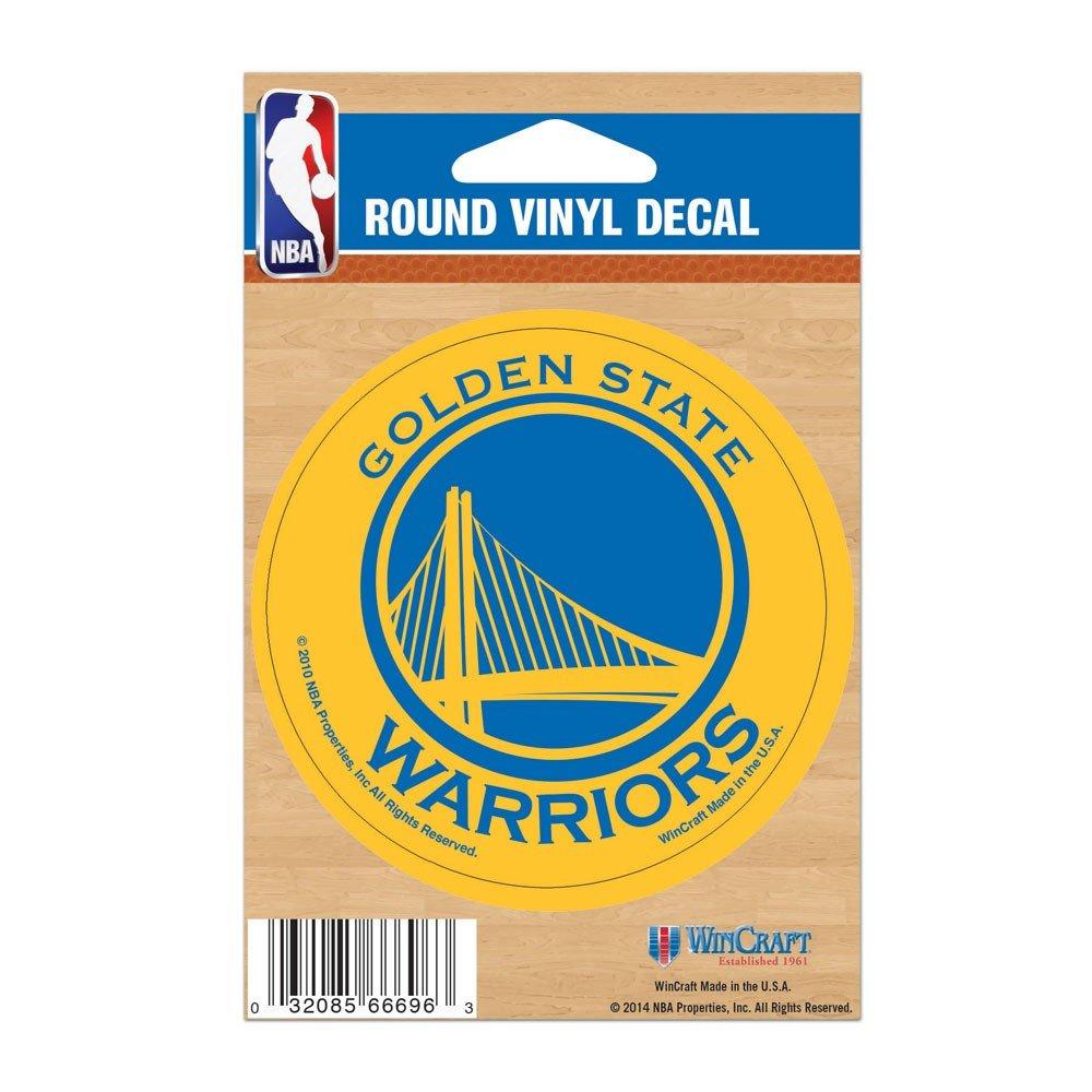 NBA Golden State Warriors wcr66696010ラウンドビニールデカール、3