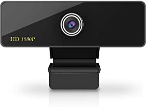 Webcam with Microphone, 1080P HD Webcam Streaming Computer Camera, USB Webcam with Wide Angle Lens & Large Sensor for PC Laptop Desktop Video Calling, Conferencing