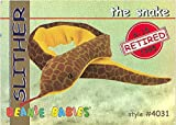 TY Beanie Babies BBOC Card - Series 1 Retired (RED) - SLITHER the Snake