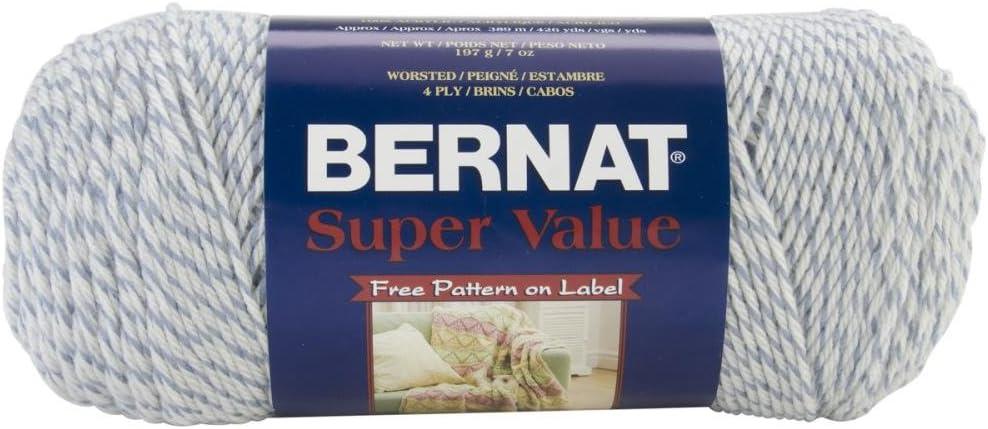 Spinrite Bernat Super Value Yarn: Solids, Black