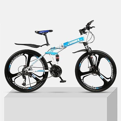 DSAQAO Bicicletas MTB Plegables,24 Pulgadas De Suspensión ...