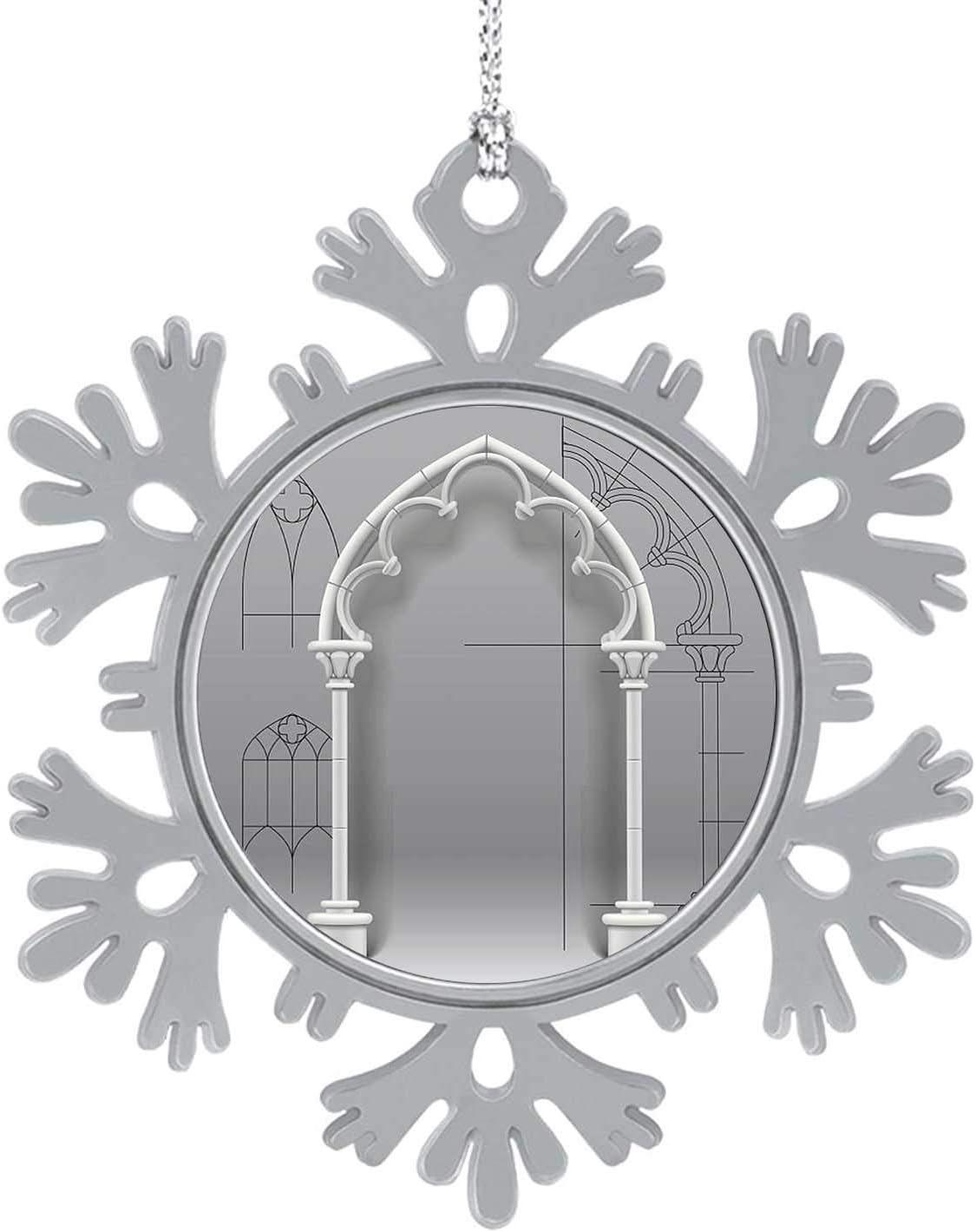 C COABALLA Gothic Arch - - Arch - Architectural Feature,Cute 2020 Home Décor Hanging Snowflake Decorations Ornament Gothic Style 1PCS