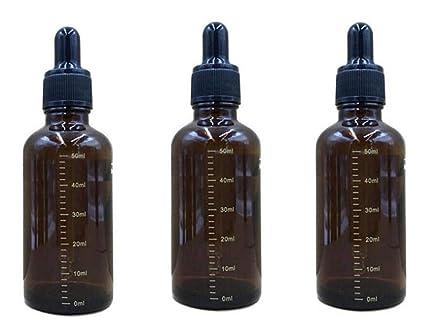 TUPWEL - Juego de 3 Botellas de Cristal de ámbar vacío Recargable graduadas para cosméticos de