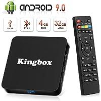 Android 8.1 TV Box [4GB RAM+32GB ROM], Android TV Box 4K, USB 3.0, BT 4.0, UHD H.265, HDMI, Smart TV Box Quad Core WiFi Media Player, Box TV Android