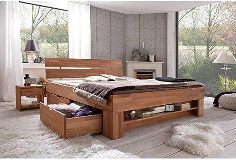 Elfo Cama futón Granada 180 x 200 cm, incluye cajones de madera de haya barnizada.