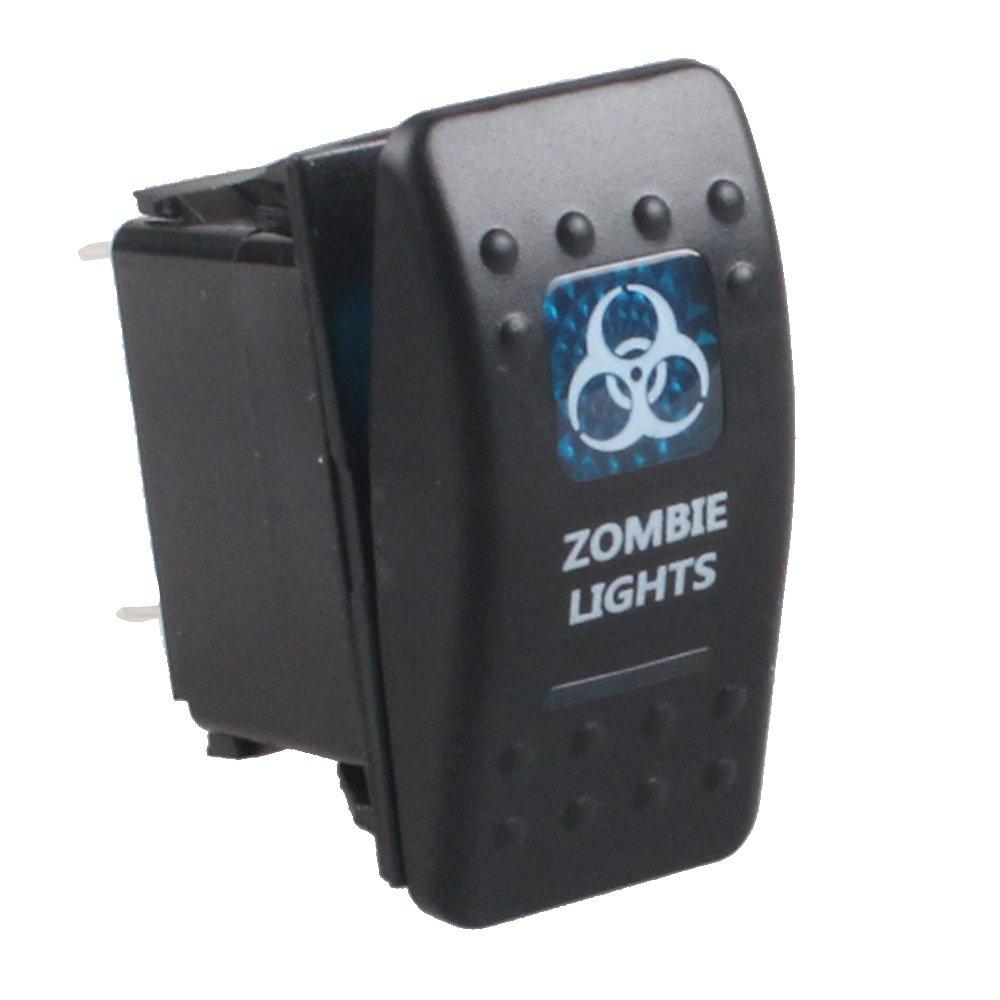 Supmico Auto 12V 20A 24V 10A wasserdicht Blau Licht Beleuchtet Wippenschalter Kippschalter Armaturenbrett Schalter Spot Light