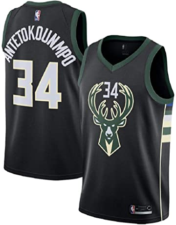 df8304249dc8 Men s Milwaukee Bucks  34 Giannis Antetokounmpo Black Swingman Jersey