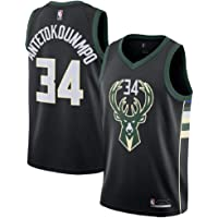 9fd7bd1a49c Men's Milwaukee Bucks #34 Giannis Antetokounmpo Black Swingman Jersey