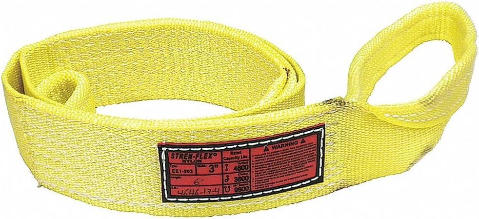 1 W Nylon Type 3 Web Sling Number of Plies: 2 Flat Eye and Eye 7 ft
