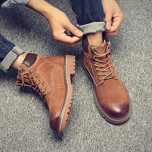 Shukun Herren Stiefel Martin Stiefel Herren Herbst High-Top-Stiefel Herrenschuhe, Wild Desert Stiefel Tooling Schuhe zu helfen