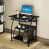 NRG Home Office Black Computer Desk PC Corner Laptop Table Workstation Furniture