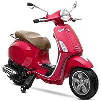 Playkin Moto eléctrica Vespa roja, Color Rojo (1)