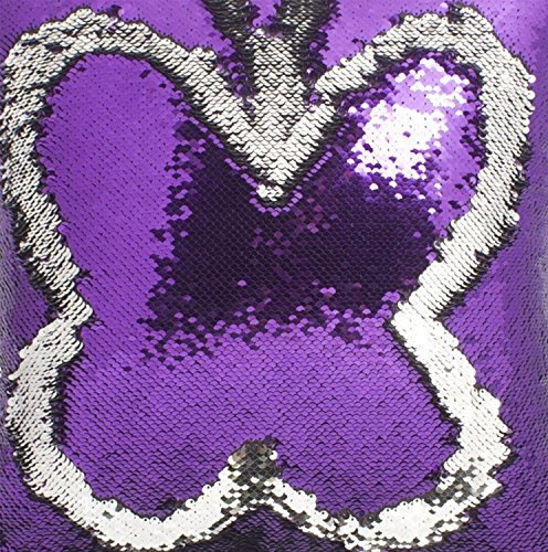 BalsaCircle TRLYC 12 by 60 Mermaid Sequin Tablerunner for Wedding Christmas Day-Purple and Silver