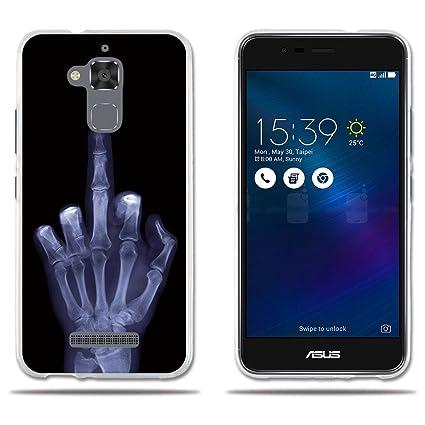 FUBAODA Funda ASUS Zenfone 3 MAX ZC520TL Carcasa de Silicona,Dibujo Tema No Toque Mi Teléfono, Funda Protectora Anti-Golpes para ASUS Zenfone 3 MAX ...