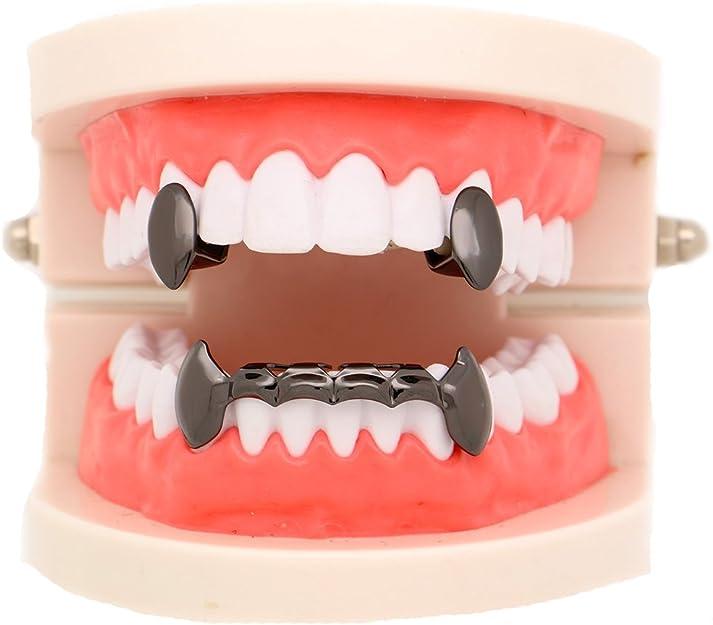 Amazon.com: LuReen - Parrillas de dientes de dracola de oro ...