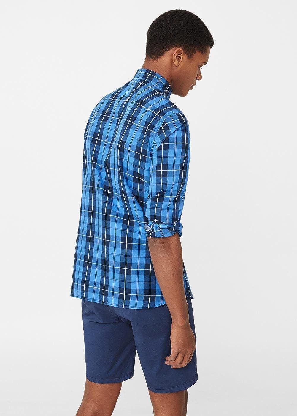 MANGO MAN - Camisa casual - para hombre Bleu encre L: Amazon.es: Ropa y accesorios