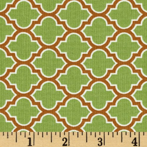 (Deer Valley Lodge Lattice Tarragon Fabric By The YD)