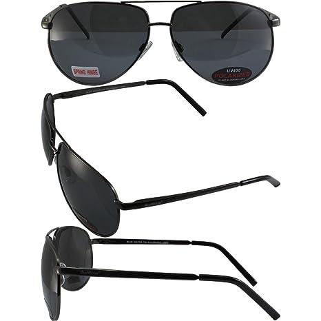 3ad4696061a Amazon.com  Bluewater Polarized Airforce Sunglasses Gunmetal Frames ...