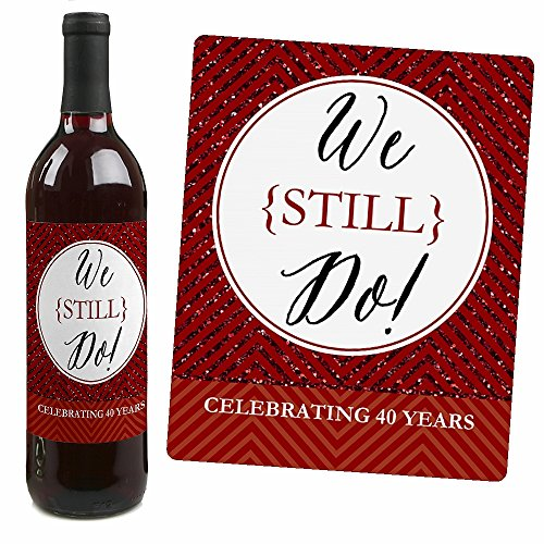 40th Wedding Anniversary Quotes: 40th Wedding Anniversary Wine Bottle Labels