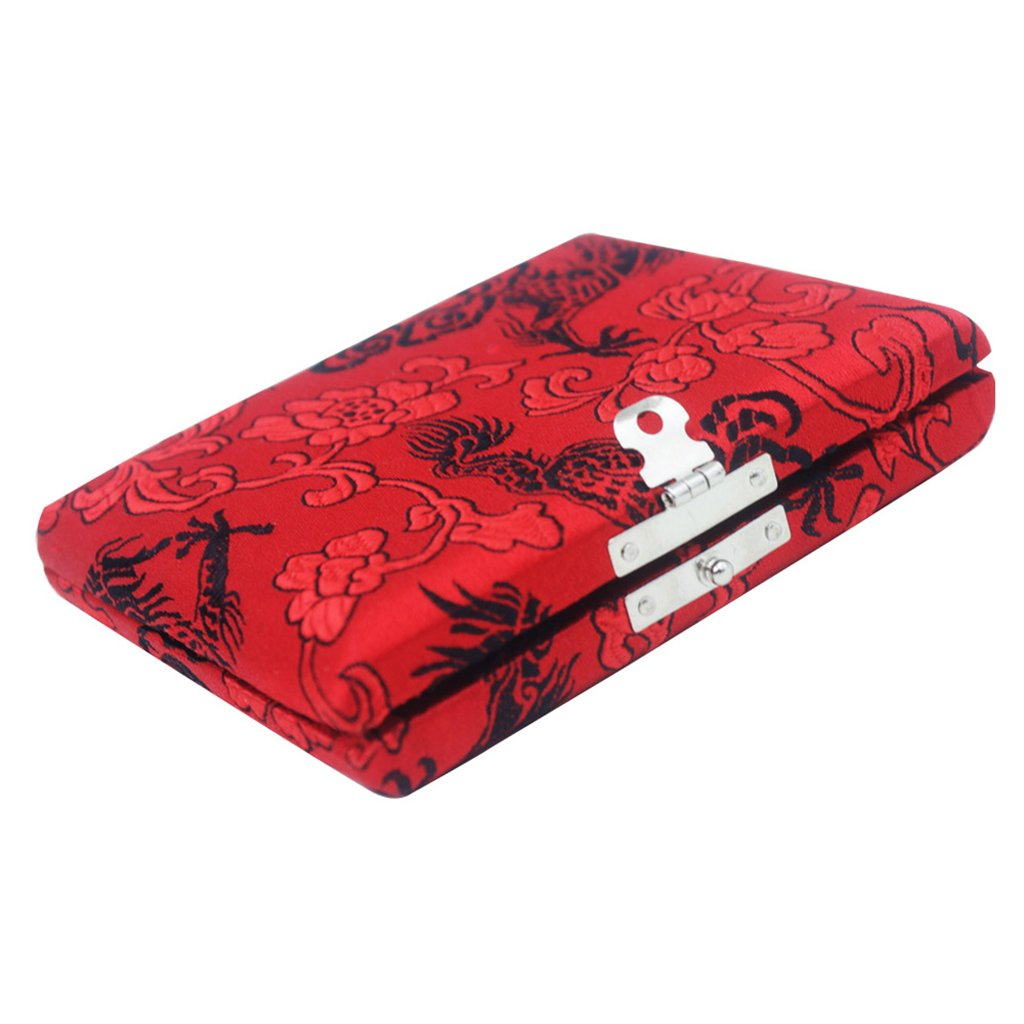 Homyl Practical Cloth Oboe Reed Carrying Case Holder, Protects 6pcs Reeds, Red