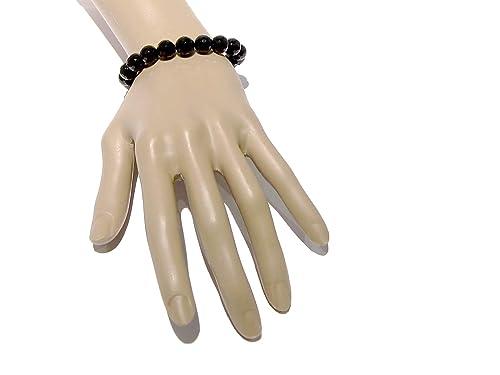 I Dig Crystals Tourmaline Black Bracelet 9mm Boutique Faceted Genuine Round Gemstone Handmade Stretch Sparkling B02