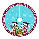 Kurt Adler DN7166 48'' Mickey & Minnie Print Satin Treeskirt