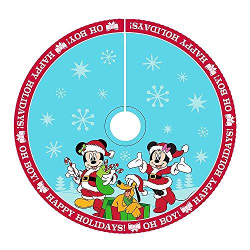 Kurt Adler DN7166 48'' Mickey & Minnie Print Satin Treeskirt by Kurt Adler