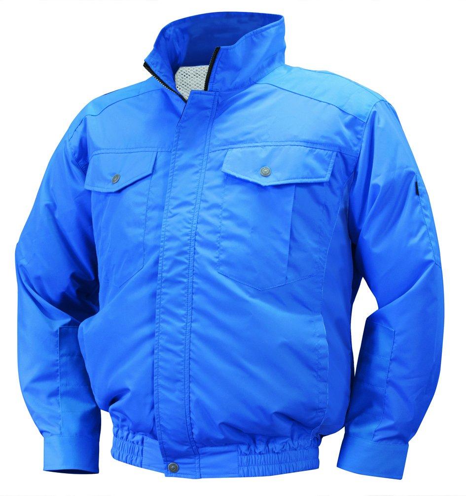 NSP 空調服 服単体 NA-111 ブルー チタンコーティング 立ち襟 肩袖補強あり サイズ2L 8209442 B07BHKWQ49 2L 2L