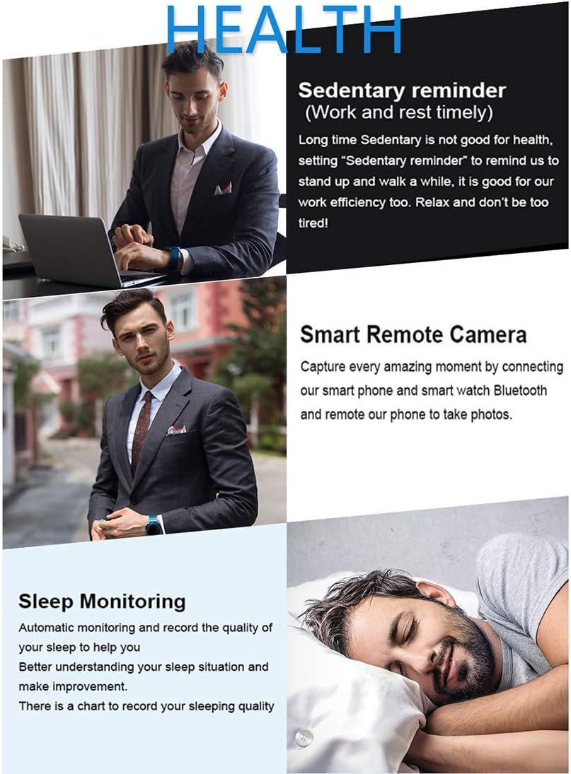 SHRAY Montre de Sport, Tracker de Fitness, écran Couleur Smartwatch, Moniteur de fréquence Cardiaque et de Sommeil, podomètre étanche et Compteur de Calories pour Android iOS Bleu