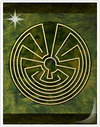 Finger Labyrinth Laminated Card 6-Pack 2: Focus Tools for Stress, Anxiety, PTSD, ADHD & Autism by Mandalynths (Image #2)