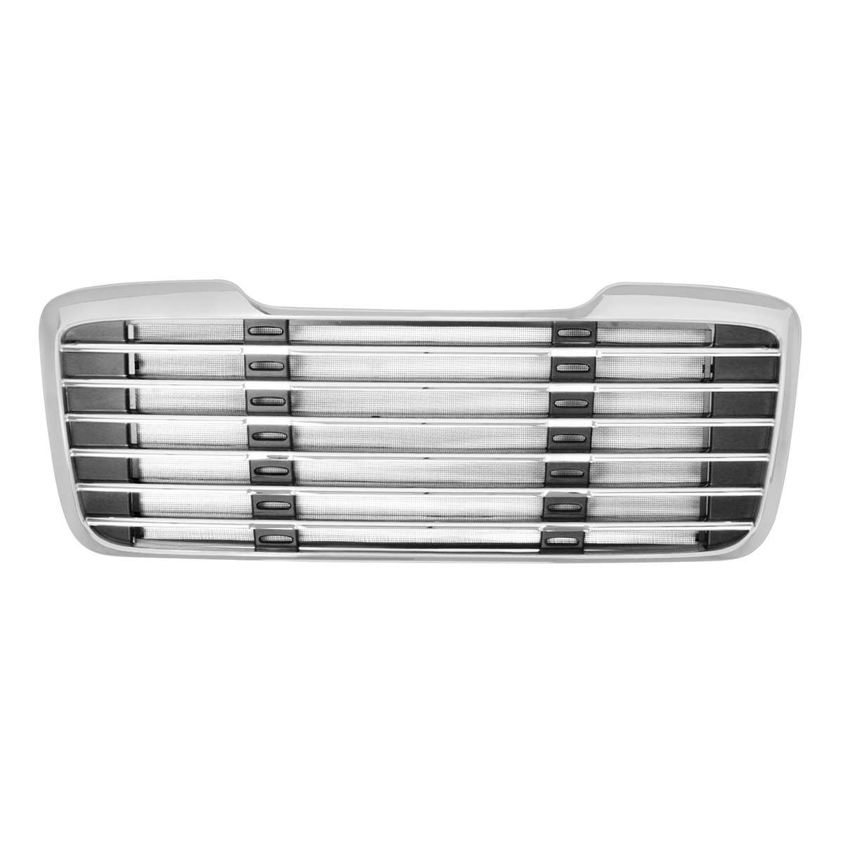 Grand General 89305 Chrome Plastic Grille with Black Steel Bug Screen for M2 Freightliner