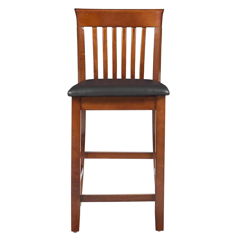 Enjoyable Linon Triena Dark Cherry 24 Inch Counter Stool Renewed Frankydiablos Diy Chair Ideas Frankydiabloscom