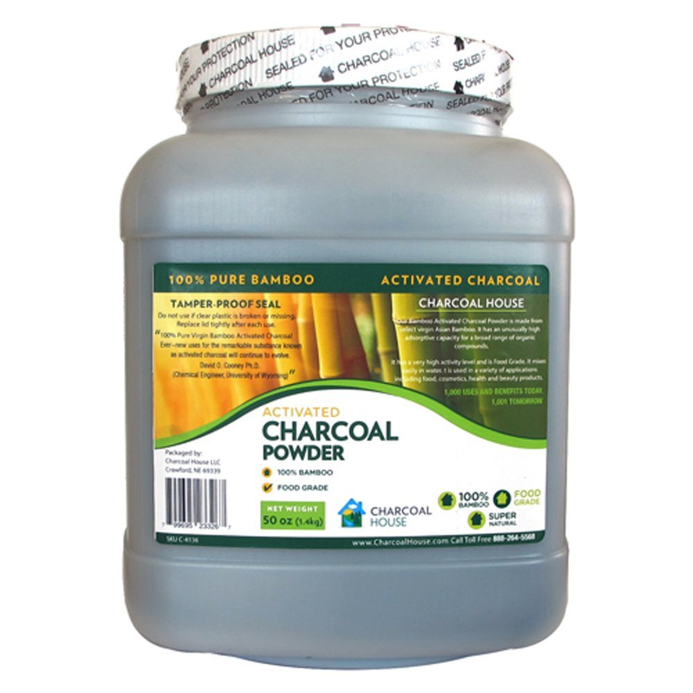 1 gallon Bamboo Activated Charcoal Powder- Internal, external uses, for cooking, baking, poultices, skin care, soap making